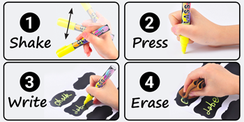 How to use the liquid markers: