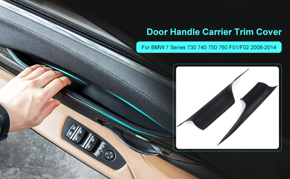 Amazon Com Partol Door Pull Handle Covers For Bmw 7 Series Door Handle Carrier Trim Cover Kit Fit For Bmw 730 740 750 760 F01 F02 2008 2014 Left Front Right Front Home Improvement