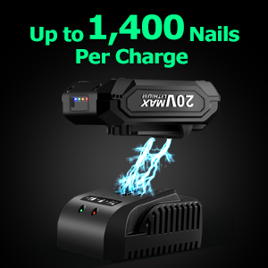 1400 Nails per Charge