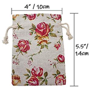rose burlap bags