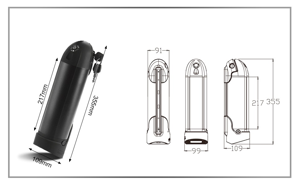 f/ür Elektrofahrrad Prophete//Trio SEASON Ersatzakku 36V 10Ah Trinkflaschen Akku f/ür E-Bike Conversion Kit mit Ladeger/ät und Halterung