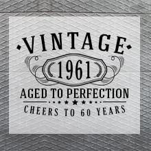 Vintage Aged to perfection birthday