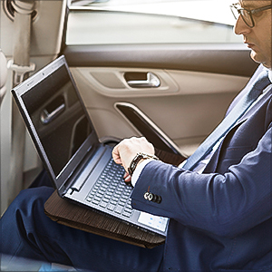 Transform your bed, sofa or car into your very own little office and get down to work anywhere