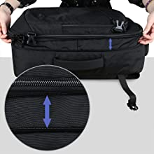 Expandable carry on backpack