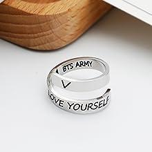 bts ring bts jewelry for women girls