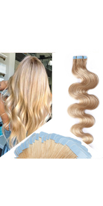 Body Wave Tape in Human Hair Extensions