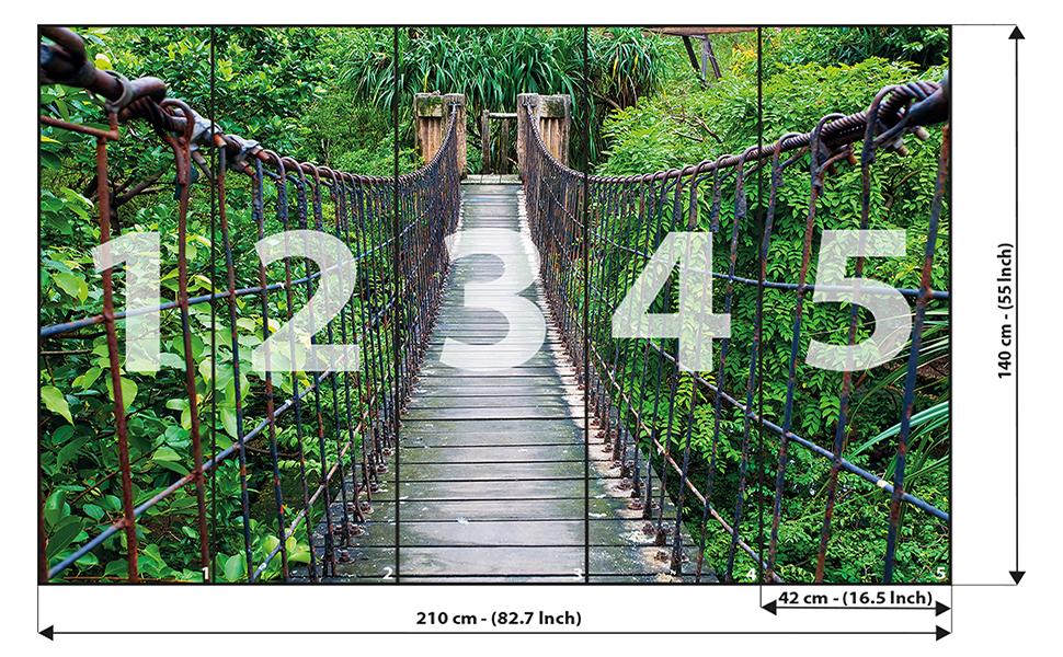 Jungle Bridge Poster 140 x 100 cm