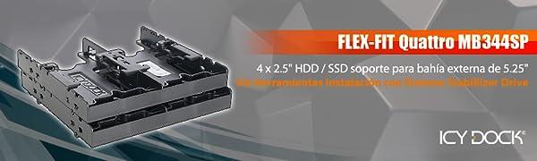 """Icy Dock Flex-FIT Quattro MB344SP - Adaptador 4 x 2.5"""" HDD/SSD ..."""