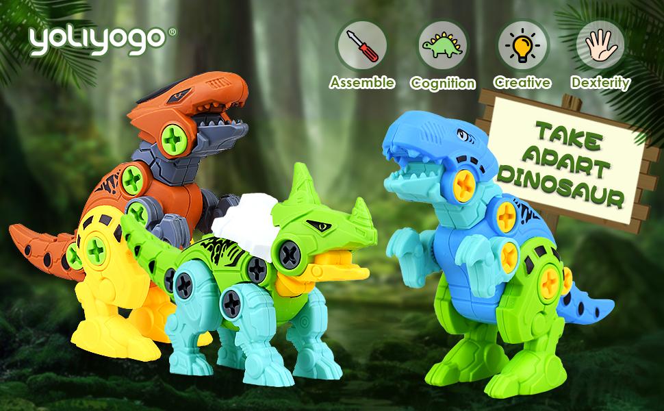 Take apart dinosaurs toy