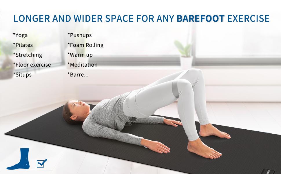 Cambivo Extra long exercise mat