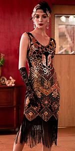 Radtengle Gatsby Costume Dress