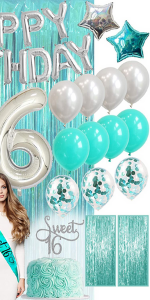 Sweet 16 Birthday Decorations for Her Sweet 16 Birthday Gifts for Her Party Supplies Sweet Sixteen