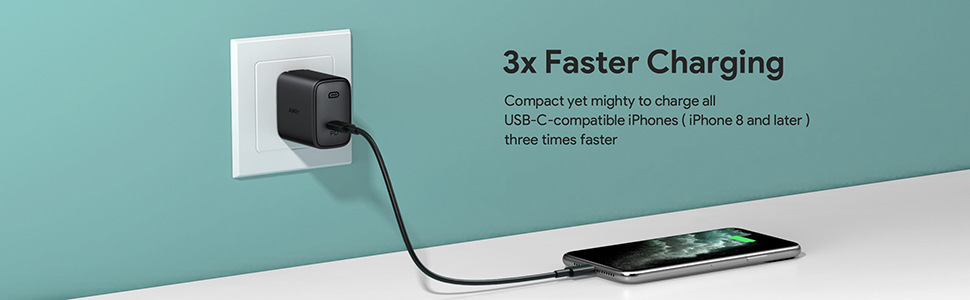 aukey pd charger type c charger wall charger
