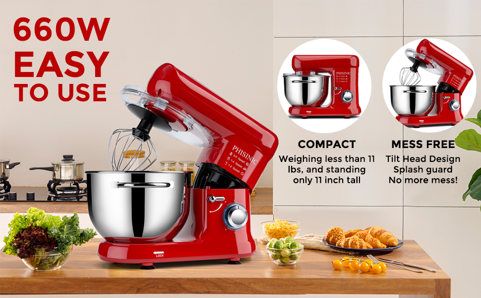 660w stand mixer phisinic stand mixer dishwasher safe kithchen mixer electric mixer
