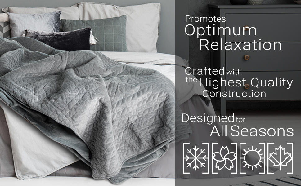 Heavy therapy blankets for optimum relaxation, high-quality construction, designed for all seasons