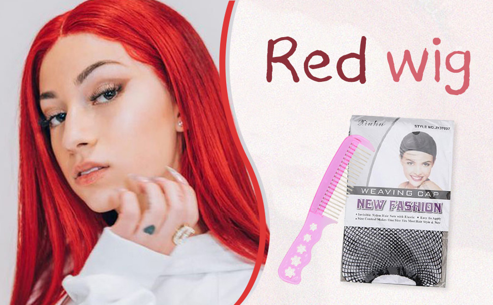red cosplay wig