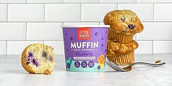 keto blueberry muffin high protein breakfast low sugar snack cup low sugar gluten free dessert