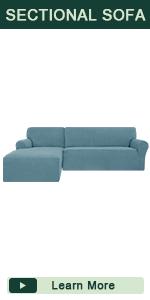 smoky blue L shape sofa cover
