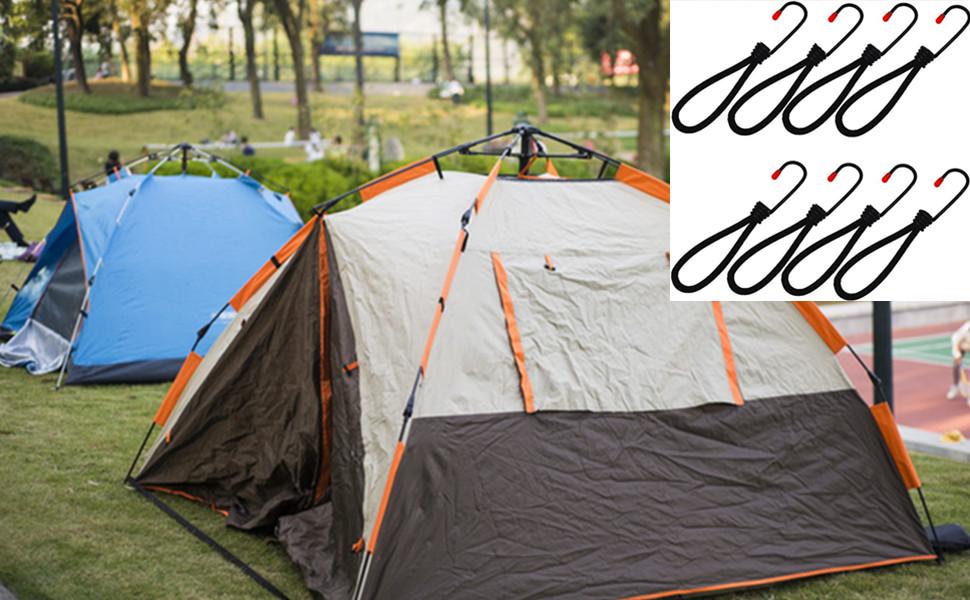 テント・タープ部品 張綱ストレッチコード キャンプ用品 8本組