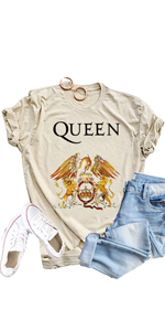music graphic tees for women