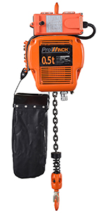 2 Speed 2 ton Electric Chain Hoist 20 ft G100 Chain M4//H3 230//460V Wireless