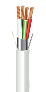 Plenum Rated Shielded Sound amp; Security Cable ewcs 1000 feet coil 4 conductors electric wire amp; cables