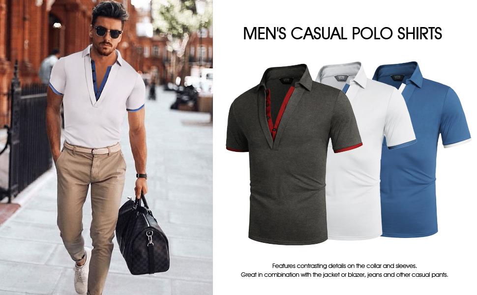 mens casual polo shirt