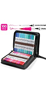 100 Colors Dual Tip Art Marker