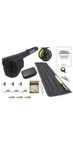 wild water fly fishing, 3/4 fly fishing package, 3 wt rod, 4 wt rod, 3 weight rod, 4 weight rod