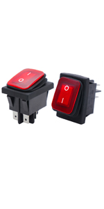 12v 25aRocker Switch Paddle Switch Rocker Switch with Red LED Rectangular