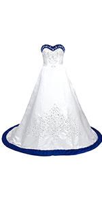 sweetheart satin wedding dress