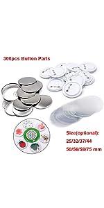 300pcs Button parts