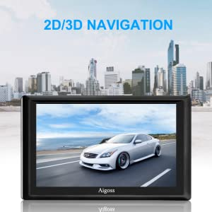 2020 Navigation f/ür Auto Aigoss 5 Zoll Touchscreen 8GB LKW PKW KFZ GPS Navi Navigationsger/ät mit POI Sprachf/ührung Fahrspurassistent Lebenszeit Kostenlose Kartenupdates