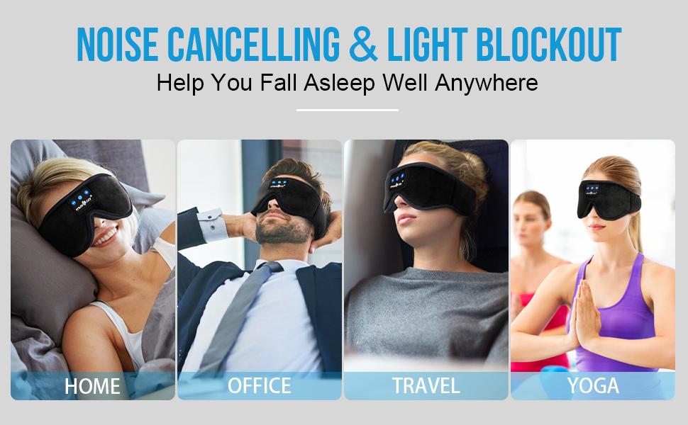 bluetooth sleep headphones sleeping eye mask headband Gadgets for guys