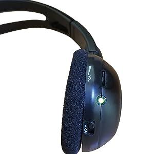 Cadillac Escalade wireless headphones, Unwired technologies wireless headphones DVD