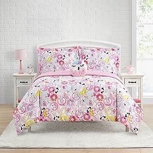 donut bedding, dessert comforter set, dessert bedding, donut comforter set, pink comforter set