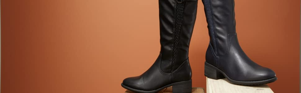High Boots Details about  /Ladies Spot On Knee
