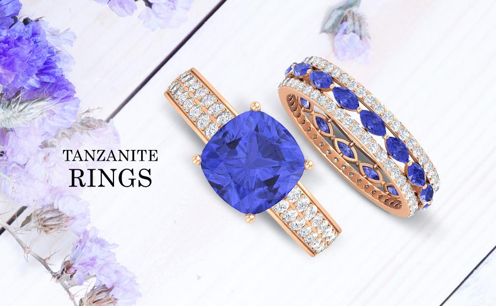 banner Tanzanite Rings