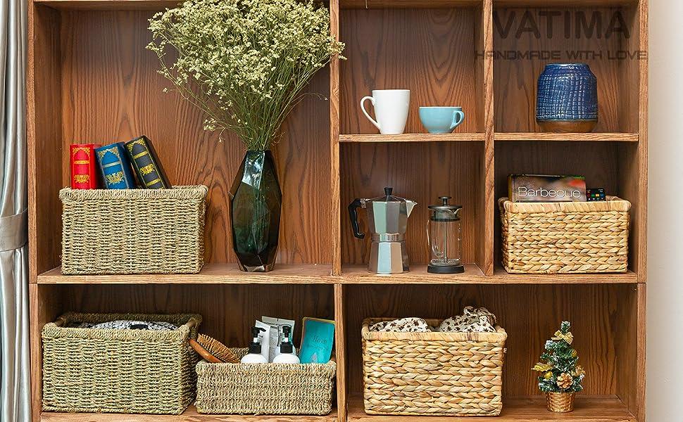 Set of Wicker Baskets for Organisation