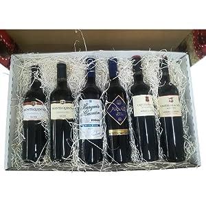 Cesta decorativa con Vinos Rioja y Ribera del Duero para regalar ...