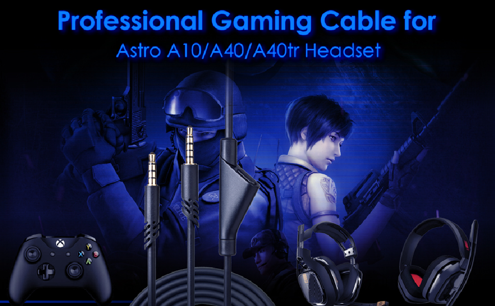 Replacement 2.0M Astro A10 Volume Cable Cord with Volume Control Function Also Works with A40/A40TR