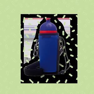 BPA-frei ISYbe Fitness-Trinkflasche Logo blautransparent 0,7L auslaufsicher,