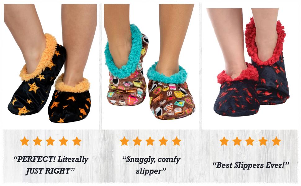 Stars Fuzzy Feet, Latte Sleep Fuzzy Feet, Lobster Fuzzy Feet and Reviews