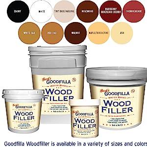 wood filler goodfilla walnut