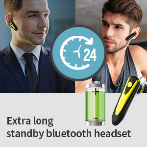 Extra long standby bluetooth headset