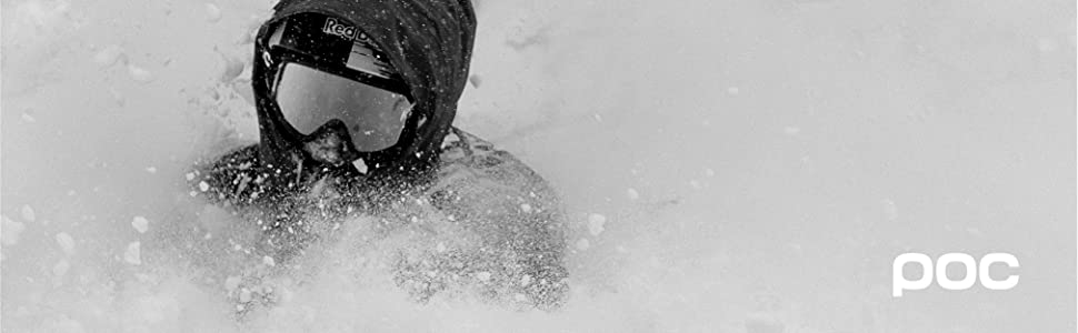 Photo of person skiing in deep powder