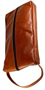 golf shoe bag, shoe bag, golf shoe bag, leather shoe bag, leather golf shoe bag, full grain leather