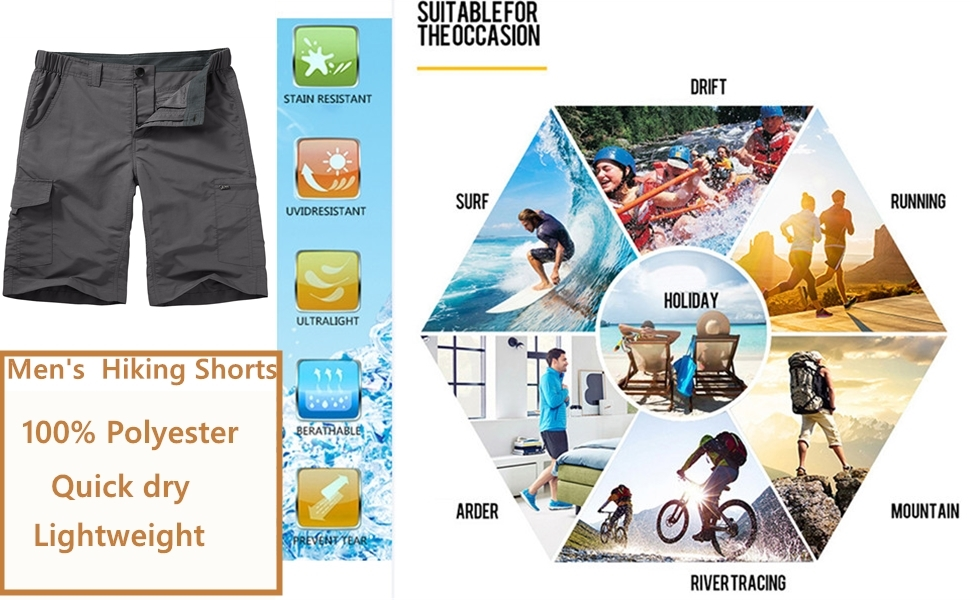 lightweight hiking shorts cargo shorts for men mens cargo shorts big and tall shorts work