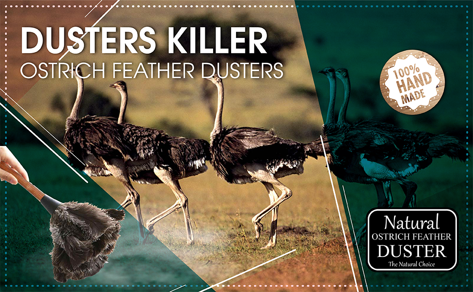 Dusters Killer Ostrich Feather Dusters 16 L Small MB01
