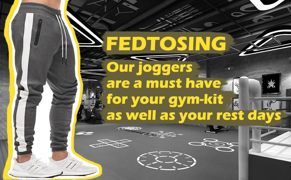 Mens Joggers Gym Sweatpants Tracksuit Bottoms